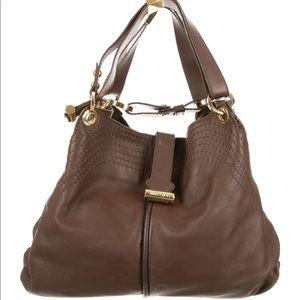 Jimmy Choo Alex Hobo Brown Leather Bag